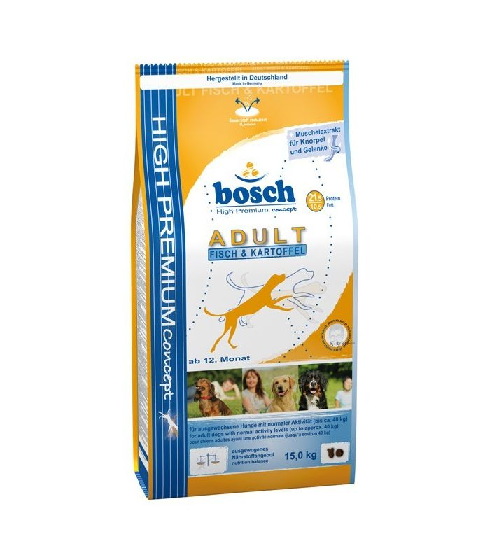 Bosch HP Adult Fish si Potatoes 15 kg