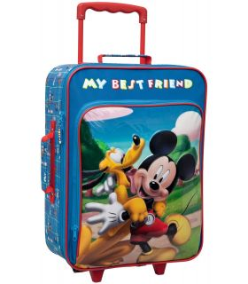 Troler Textil 50 cm Mickey si Pluto Friends