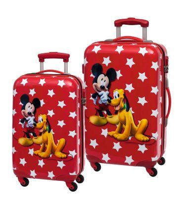 Set 2 Trolere Abs 55/67 cm 4 Roti Mickey si Pluto Stars