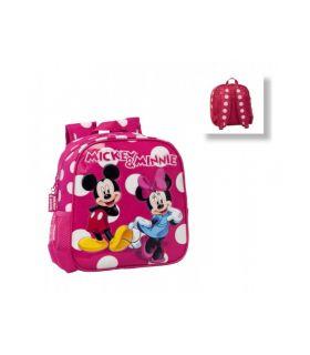Ghiozdan Gradinita 25 cm Minnie si Mickey Lunares