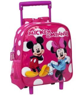 Troler Gradinita 25 cm 2 Roti Minnie si Mickey Lunares