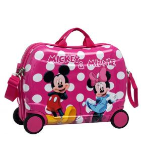 Geanta de Gradinita Abs 50 cm 4 Roti Minnie si Mickey Lunares