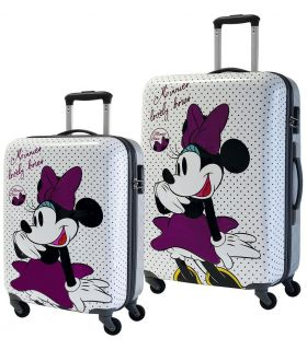 Set 2 Trolere ABS 55/69 cm 4 Roti Minnie Bows