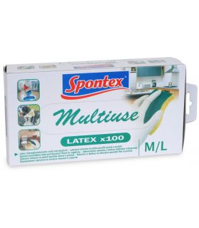 Dispenser 100 Manusi Latex Spontex