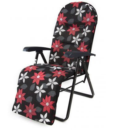 Scaun Camping Pliant Galaxy Plus Negru Floral