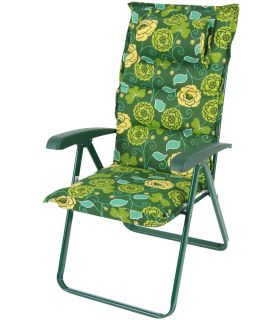 Scaun Camping Pliant Messina Lux Verde Floral