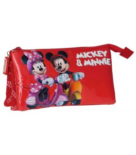 Penar 22 cm, 3 Compartimente Mickey si Minnie