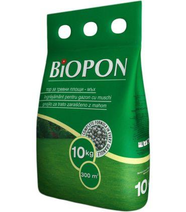 Biopon Ingrasamant Gazon cu Muschi Control 10 kg