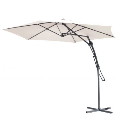 Umbrela Gradina Sistem PushUp Ø3 m Crem