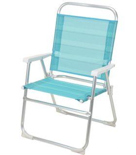 Scaun Pliabil Aluminiu 51x56x90 cm Albastru