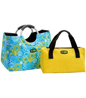 Set Frigorific Bag In The City 24+8 Litri Albastru-Galben Giostyle