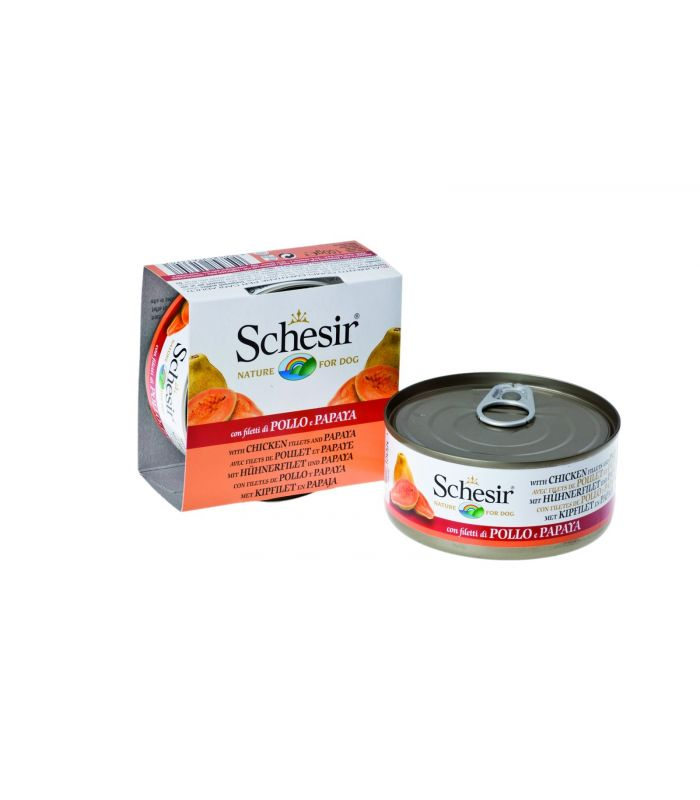Schesir Dog Fruit Pui si Papaya 150g