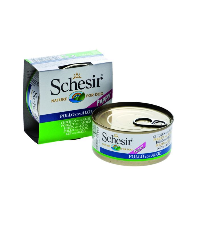 Schesir Dog Junior Pui si Aloe 150g