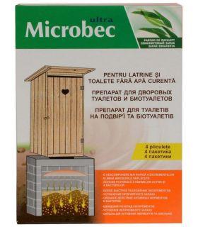 Bros Microbec Tratament Haznale-Latrine si Toalete Uscate 4x30 gr