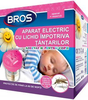 Bros Aparat Electric Pentru Copii cu Rezerva Lichida 40 ml Impotriva Tantarilor
