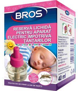 Bros Rezerva Lichida Aparat Electric Pentru Copii Impotriva Tantarilor