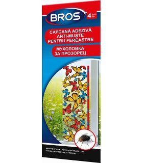 Bros 4 Capcane Colorate Adezive Fereastra Impotriva Mustelor
