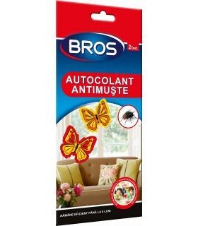 "Bros 2 Capcane Muste Decorative ""Fluturasi de Geam"" cu Substanta Activa"